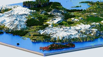 Cekageon - Snowy Highland Plains and Forest Tales (Download, 4k, 1.17+,Java & Bedrock, Multibiome Minecraft Survival World) Minecraft Map & Project