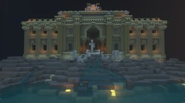 Trevi Fountain, Rome Italty Minecraft Map & Project