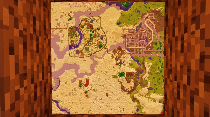 The entire area