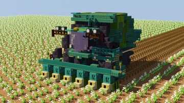 John Deere Cotton Harvester Minecraft Map & Project