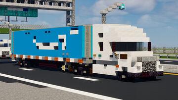 Amazon Semi-Trailer Truck Minecraft Map & Project