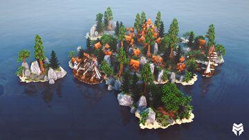 Orange Village Lobby Minecraft Map & Project
