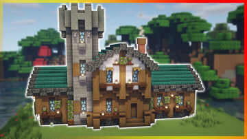 ⚒️ Minecraft: Medieval House With a Tower Minecraft Map & Project