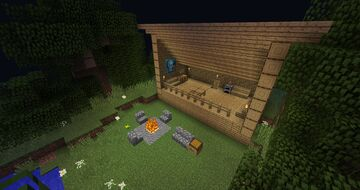 Lean-to Shelter Minecraft Map & Project