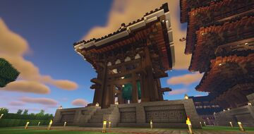 Japanese Bell Tower Minecraft Map & Project