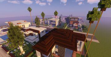 Modern Neighborhood Map + Pack #6 (10 Houses) Minecraft Map & Project