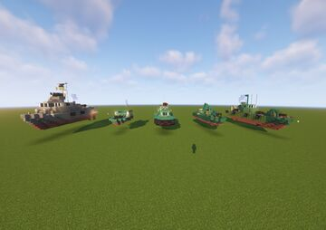 PBR Fast Boats PACK V2 Minecraft Map & Project