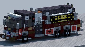 Pierce Pumper Tanker, Fire truck [With Download] Minecraft Map & Project