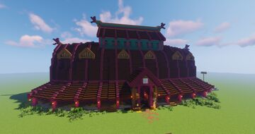 Assassin's Creed: Valhalla - Ravensthorpe Longhouse 1.16+ [Complete] Minecraft Map & Project