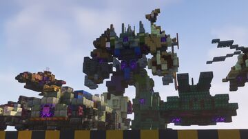 Transformers: Fall of Cybertron - Bruticus and Combaticons 1:1 scale Minecraft Map & Project