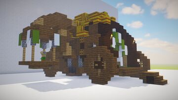 Gecko's Traveling Wagon Minecraft Map & Project