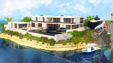 Island Millionaire Mansion Minecraft Map & Project