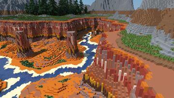 Custom WorldPainter Canyon Minecraft Map & Project