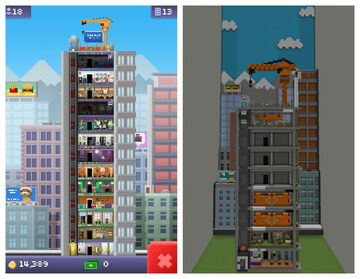 tiny tower and bitcraft apts recreation Minecraft Map & Project