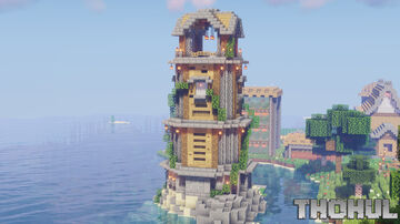 Medieval Lighthouse 1.16.5 Minecraft Map & Project