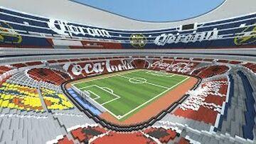 Estádio Azteca no Minecraft. Minecraft Map & Project