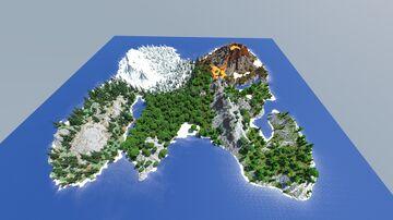 [1kx1k] Island Map (Speedbuild Worldpainter) Minecraft Map & Project