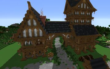 Medieval Mansion (Schematic) Minecraft Map & Project