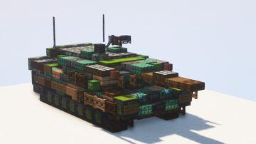 Leopard 2 PL Main Battle Tank - 1.5:1 scale Minecraft Map & Project