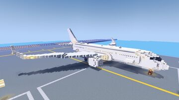 A350-900XWB [1:5:1 scaled] Minecraft Map & Project