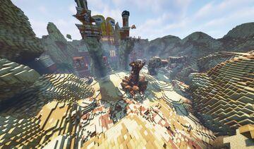 Sci Fi Desert Temple Minecraft Map & Project
