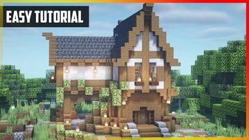 ⚒️ Minecraft: Medieval Lumberjack | Easy Tutorial Minecraft Map & Project