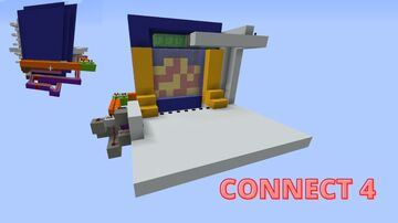 Redstone Minigame- Connect 4 Minecraft Map & Project