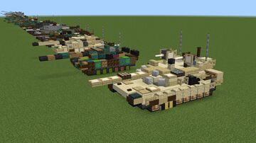 M1A2 Abrams SEPv3 Minecraft Map & Project