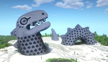 Stone snake Minecraft Map & Project