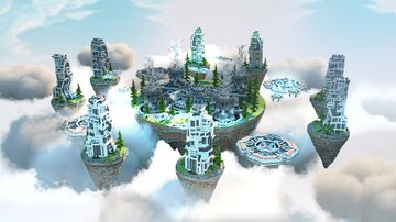 Bed Wars Map (Futuristic Land) Minecraft Map & Project