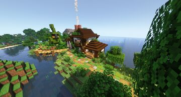 Humble Cottage and Greenhouse Minecraft Map & Project