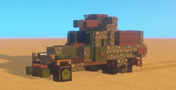 WWII Vehicle | M3 half-truck Minecraft Map & Project