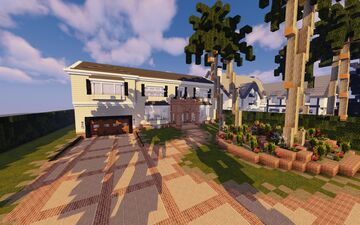 Vintage Inspired Home Minecraft Map & Project