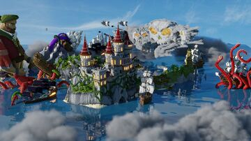 Aderlyon Build Team   Buccaneer Bay Inspiration Map Minecraft Map & Project