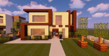 Modern House #100  (Map + Schematic) HAPPY 100 Projects Minecraft Map & Project