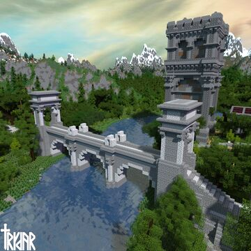 Roman Bridge +tutorial Minecraft Map & Project