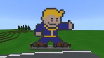 Fallout Vault Boy road sign Minecraft Map & Project