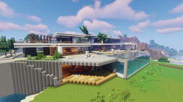 Modern Mansion / Big Modern House Minecraft Map & Project