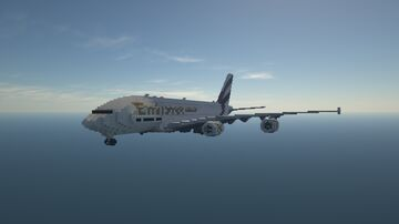 Airbus A380-800 | 1.5:1 Scale | Full Interior | Download Minecraft Map & Project
