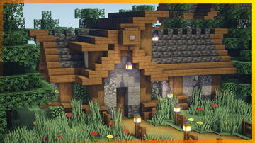 ⚒️ Minecraft: Easy Medieval House Minecraft Map & Project