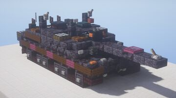 Challenger 2 MBT - Black Night upgrade, 1.5:1 scale Minecraft Map & Project
