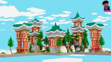 ORIENTAL SPAWN HCF/KITMAP + ROAD Minecraft Map & Project