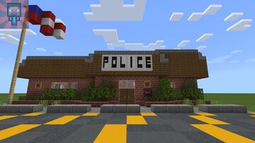 Hawkins Police Department from Stranger things!! Minecraft Map & Project
