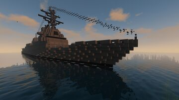 constellation class frigate FGG-X Minecraft Map & Project