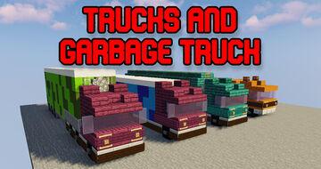 Trucks, garbage truck and tanker truck / LKW, Müllwagen und Tankwagen by FlocraftLP Minecraft Map & Project