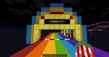 Mario Kart 7 - Rainbow Road Minecraft Map & Project