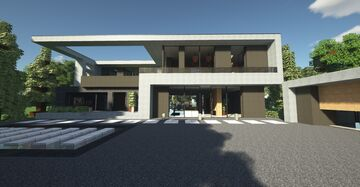 Ultra realistic modern house Minecraft Map & Project