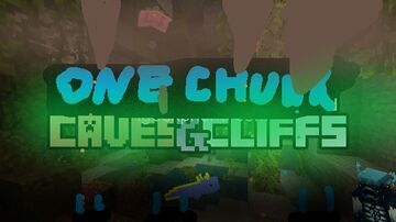 One chunk caves and cliffs edition Minecraft Map & Project