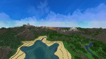 New World Continant Minecraft Map & Project