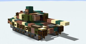 Olifant Mk.2 South African MBT Minecraft Map & Project